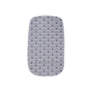 Navy Blue Design Nail Art