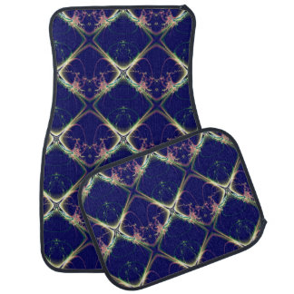 Navy Blue Diamond Design Car and Truck Mats Car Mat