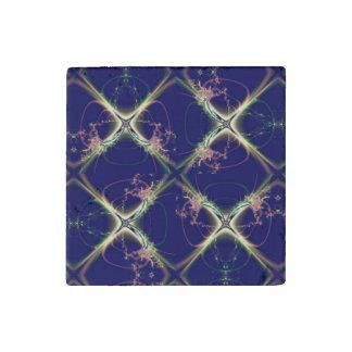 Navy Blue Diamond Design Stone Magnets