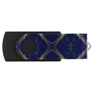 Navy Blue Diamond Design USB Flash Drive