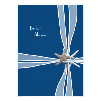 Navy Blue Gift Box Bridal Shower Card