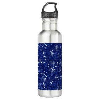 Navy Blue Glitter Printed