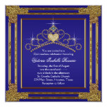 Navy Blue Gold and Tiara Sweet 15 Quinceanera