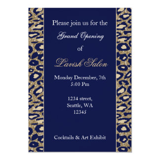 Navy Blue Gold Chic Corporate party Invitation