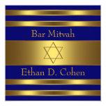 Navy Blue Gold Star of David Bar Mitzvah