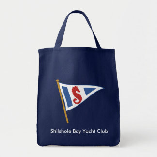 Navy Blue Grocery Tote