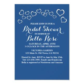 Navy blue heart confetti wedding design bhp card