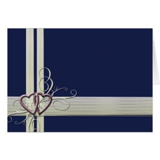 Navy blue heart design card