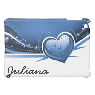 navy blue hearts casing case for the iPad mini