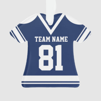 Navy Blue Hockey Jersey with Photo Ornament