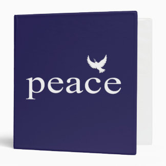 Navy Blue Inspirational Peace Quote Binder