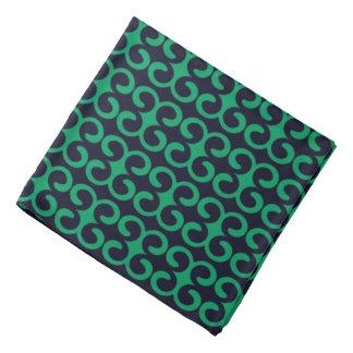 Navy Blue/Irish Green Stylish Stripe Pattern Bandana