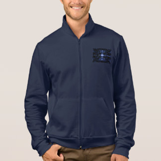 Navy Blue Jogger Jacket with Matching Graphic Art