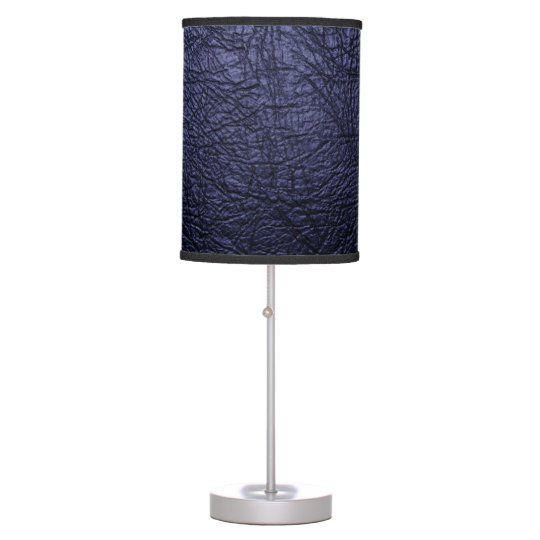 Navy blue leather texture Table Lamp