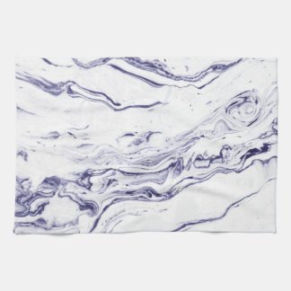Navy Blue Marble Hand Towel