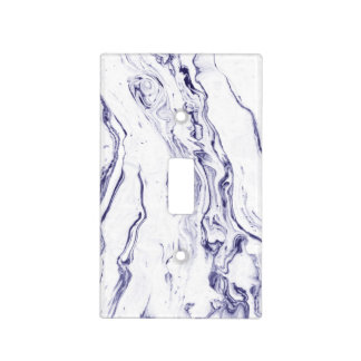 Navy Blue Marble Light Switch Cover