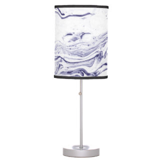 Navy Blue Marble Table Lamp