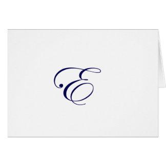 Navy Blue Monogram E Card