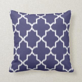 NAVY BLUE Moroccan Ikat Pattern Pillows