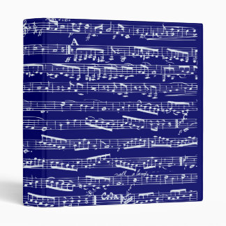 Navy blue music notes binders