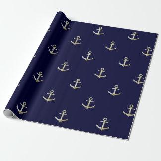 Navy blue nautical anchor