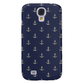 Navy blue nautical anchor