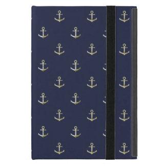 Navy blue nautical anchor iPad mini covers