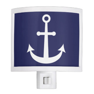 Navy Blue Nautical Anchor Nite Light