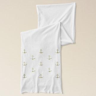 Navy blue nautical anchor scarf