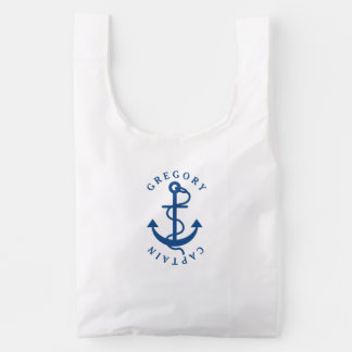 Navy Blue Nautical Boat Anchor Monogramed