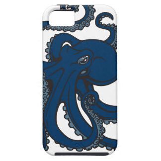 Navy Blue Octopus iPhone 5 Cases