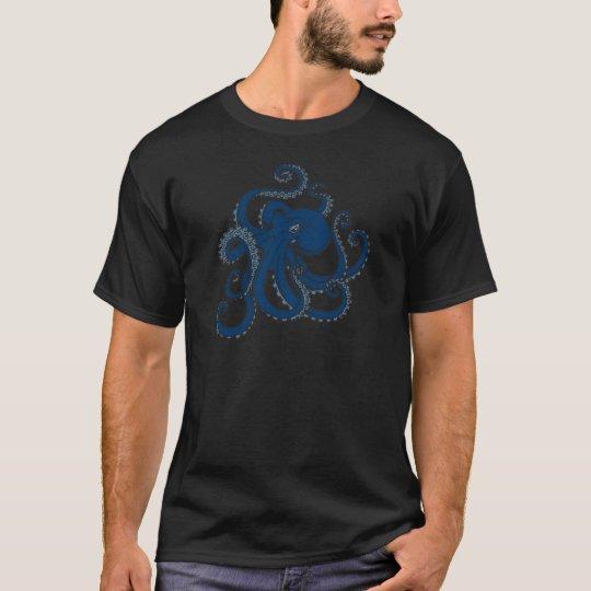 Navy Blue Octopus T-Shirt