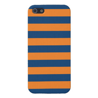 Navy Blue & Orange Trendy personalized iPhone 5 Case For iPhone 5/5S