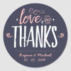 Navy Blue Paint Brush Typography Thank You Sticker