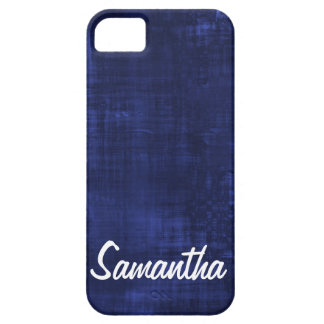 Navy Blue Paint lines Solid Color Personalized iPhone 5 Covers