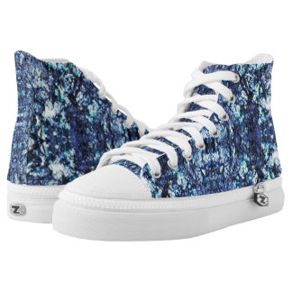 Navy blue pattern high tops