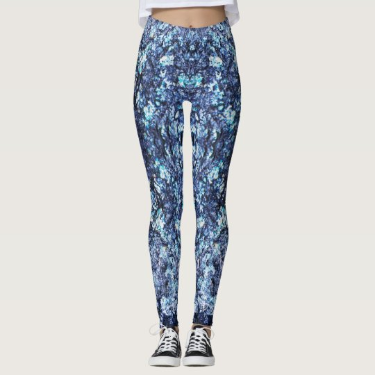 Navy blue pattern leggings
