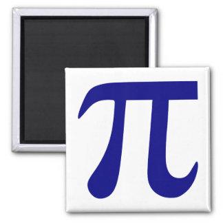 Navy Blue Pi Symbol Square Magnet