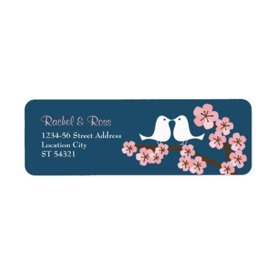 Navy Blue & Pink Cherry Blossom Spring Wedding