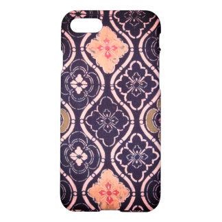 Navy Blue & Pink Iphone 7 Matte Case