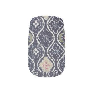 Navy Blue & Pink Nail Art