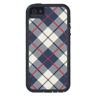 Navy Blue Plaid Pattern Case For The iPhone 5