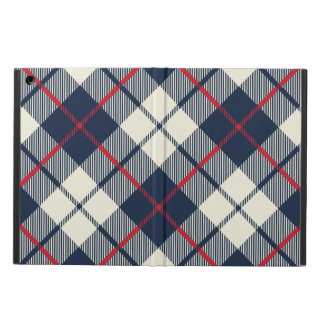 Navy Blue Plaid Pattern Cover For iPad Air