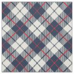 Navy Blue Plaid Pattern Fabric