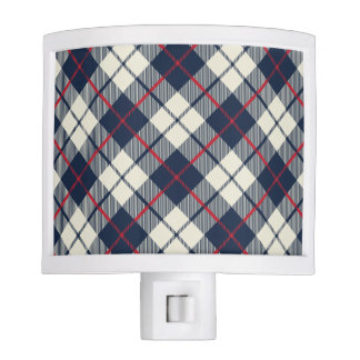 Navy Blue Plaid Pattern Nite Lites
