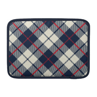 Navy Blue Plaid Pattern Sleeve For MacBook Air