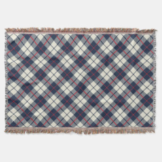 Navy Blue Plaid Pattern Throw Blanket