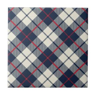 Navy Blue Plaid Pattern Tile