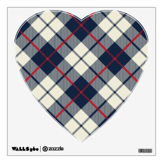 Navy Blue Plaid Pattern Wall Decal