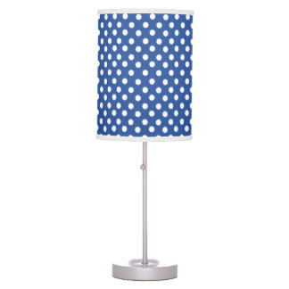 Navy Blue polka dot pattern Table Lamp